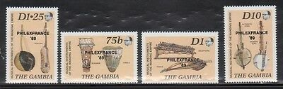 Gambia 856-59 Musical Instruments Mint NH