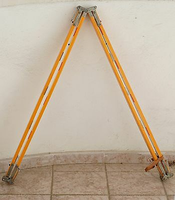 TELESCOPIC POLE 4m FOR PRISM TOTAL STATION EDM SURVEYING WOODEN LEGS THEODOLITE