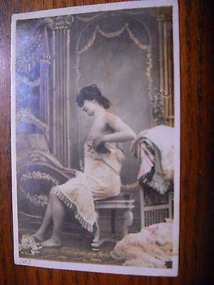 Antique Early 1900's Erotic French Photographic Postcard