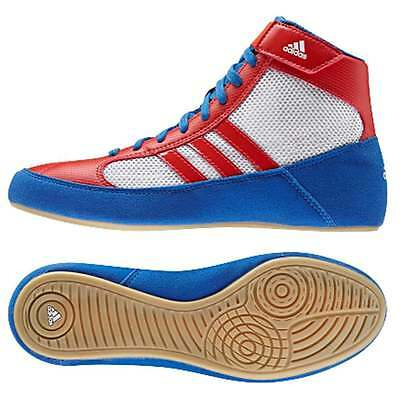 Adidas Havoc Kids Childrens Boxing Boots - Blue/Red Shoes Trainers