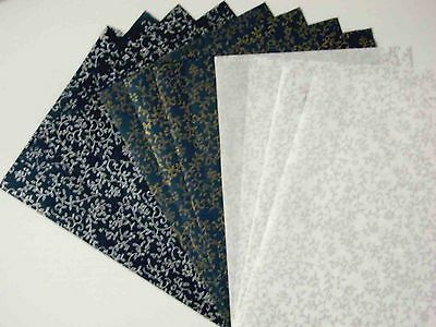 12pcs.HANDMADE THIN MULBERRY WRAPPING PAPER SHEET CARD SCRAPBOOK CRAFT No.05
