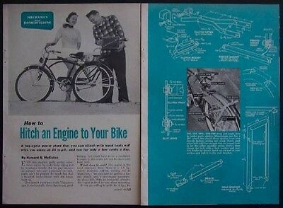 Motorized Bike Bicycle Conversion 1954 How-To build PLANS