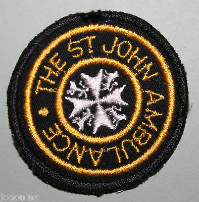 VINTAGE THE ST JOHN AMBULANCE - MINT NEVER USED (YELLOW LETTERS) cheesecloth