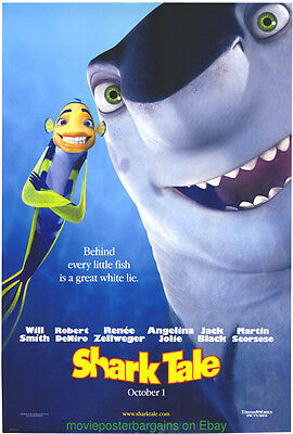 SHARK TALE MOVIE POSTER Original DS 27x40 ADVANCE STYLE Dreamworks Animation