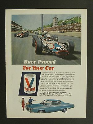 Vintage 1965 Sports Illustrated Valvoline Color Magazine Ad May 15 Issue!!!!!!