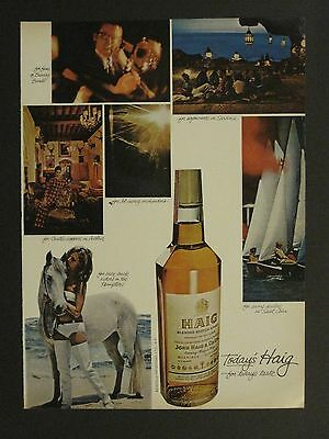 Vintage 1966 Haig Scotch Whisky Bare-Back Riders In Hamptons Magazine Ad!!!!!!!