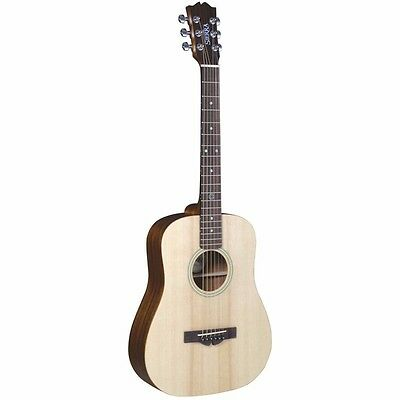 New Sierra Compass ST10 Travel Size Acoustic Guitar with Gig Bag + Free Shipping