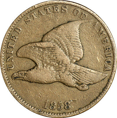 1858 Flying Eagle Penny VF Small Letters- Raw Very Fine