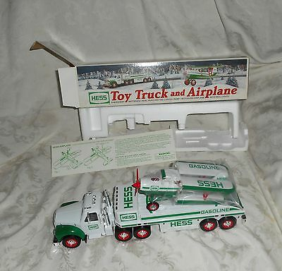 2002 Hess Toy Truck and AIrplane with Lights In Original Box NEW