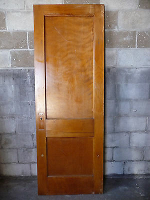 Antique Craftsman Style 2 Panel Interior Door - C. 1910 Architectural Salvage