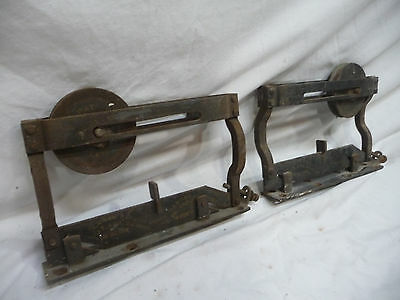 Set of Antique Lane's Parlor Door Harger/Roller - C. 1890 Architectural Salvage