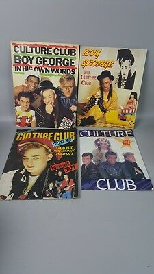 Lot x 4 Culture Club Boy George Magazines 1980s