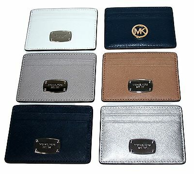 Mk Michael Kors Leather Travel Card Case Id Holder