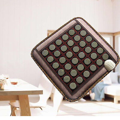 Negative Ions FIR InfraRed Pad Jade Tourmaline Heat Healing Therapy Mat