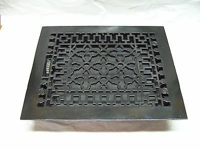 "c.1885 Tuttle & Bailey 8"" x 10"" Ornate Cast Iron Heating / Air Grate Vent"