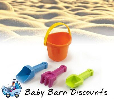 Miniland Baby Sand Set (Sand Pail with Scoops) - Orange Pail