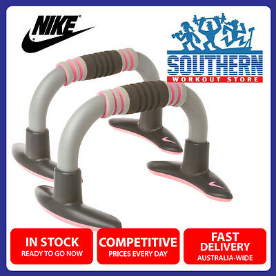 Nike Push Up Grips Pair Stable Ergonomic Cushioned Wrist Support Fitness Sport
