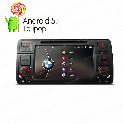 "7""HD Multi-touch Screen Android 5.1 Quad Core Car DVD Player for BMW E46/320/325"