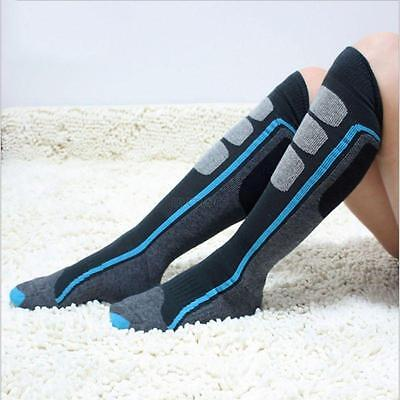 1 Pair Mens Womens Skiing Hiking Snowboard Snow Warm Long Socks Multi-Color