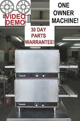 Lincoln 1301 Double Stack Commercial Electric Pizza Conveyor Impinger Ovens!