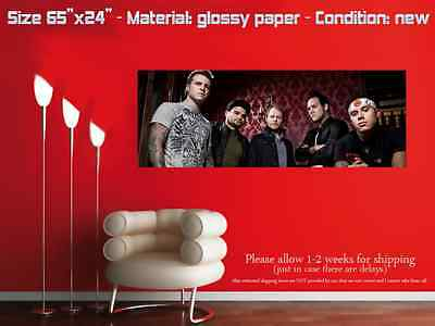 "HUGE 65""x24"" ATREYU glossy wall art poster the curse long live band red"