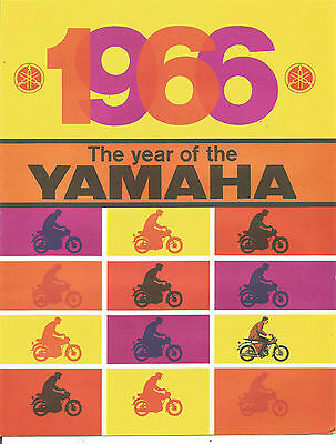 1966 YAMAHA - Brochure - Ad - 4 Color Pages - Original - Excellent Condition