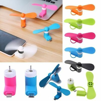 Portable Cell Phone Mini Micro USB Electric Fan Phone Cooler For Samsung Note