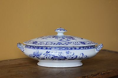 Antique Grimwades Blue & White Tureen. Circa 1910