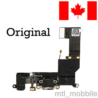 New Original OEM replacement charging port dock connector for iphone 5s Black