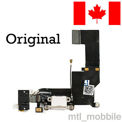 Original OEM replacement charging port flex dock connector for iphone 5s White