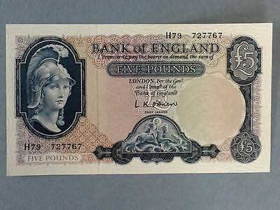 Great Britain..P-371a..5 Pounds..ND(1957-61) SUPERB GEM UNCirculated Banknote
