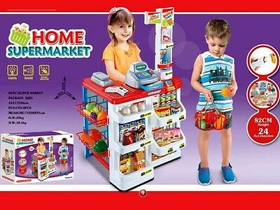 Childs Toy Deluxe Supermarket Play Set Complete with sound and lights
