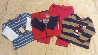 Bulk Lot / Boys Sprout Size 1 / 12-18m / Trousers & 3x Long Sleeved Tops