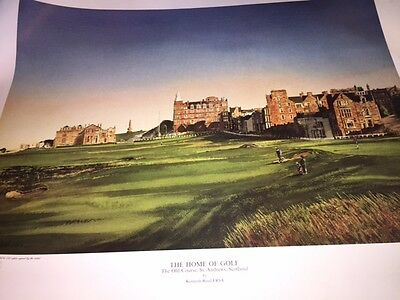 Golf print. Old course St Andrews.Limited Edition.Signed. *Reduced*