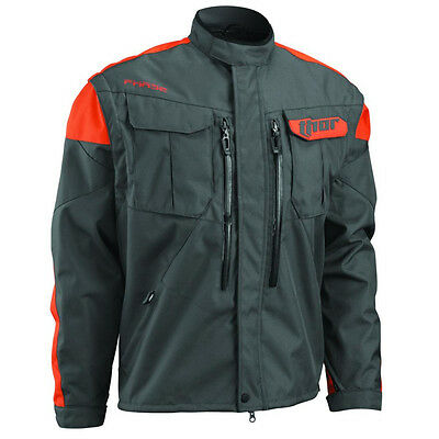 Thor Phase Enduro Jacke Jacket KTM Orange Charcoal Schwarz Quad Offroad M-XXL
