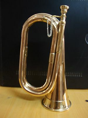 Buy It Now! Brand New Excellent Tuneable Militaria Bugle Free Hard Case+M/p