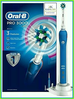 NEW Oral-B Pro 3000 3D Action Electric Rechargeable Toothbrush by Braun FAST P&P