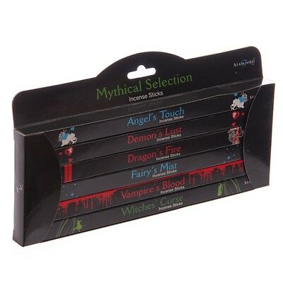 Stamford Mystical Mythical Joss Incense Stick~Black Gift Six Packs~Free Pp Uk