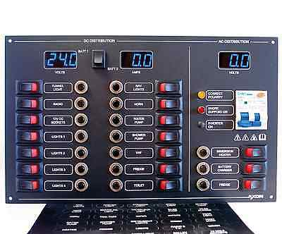 17 Way AC/DC Circuit Breaker & Switch Panel, Meters, RCBO