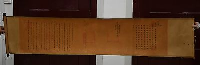 """73"""" Collectible China Ancient Dynasty Paper Silk Xuan Tong Imperial Edict Decree"""