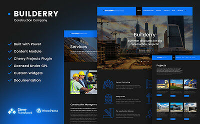 Builderry - Construction Company WordPress Theme Item number: 58891