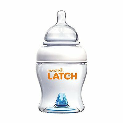 New Munchkin Latch 120Ml 0M+ Baby Feeding Bottles Set Twin 2 Pack Dishwasher Saf