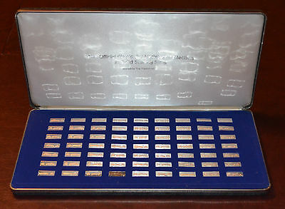FRANKLIN MINT STERLING SILVER INGOTS - Official Classic Car Miniature Collection