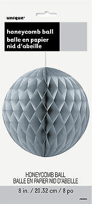 Honeycomb Ball 20CM Silver Party Supplies Decoration Hanging Paper Wedding