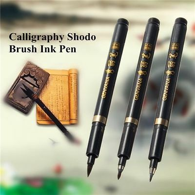 S M L Chinese Japanese Calligraphy Shodo Brush Ink Pen Writing Drawing Tool Craf