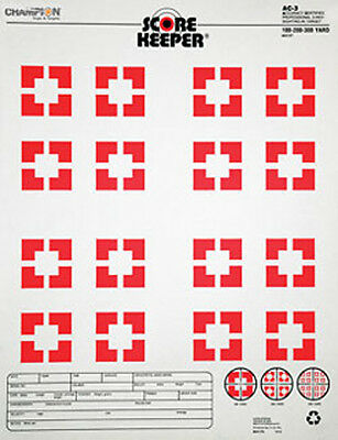 Champion Traps and Targets Orange Bullseye Targets AC3 Sight In (12 Pack) 45727