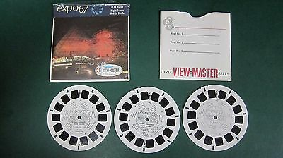 Viewmaster 3D Reel Packet A074 EXPO67 Montreal Canada Night Scenes World's Fair