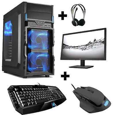 Gamer PC Komplett-Set AMD FX 4300 Nvidia 4GB GT730 HDMI 8GB 1TB Gaming Win10
