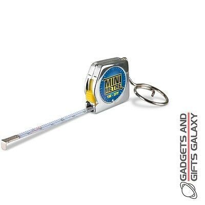 MINIMETRE TAPE MEASURE SMALL BUT ACCURATE KEYRING gadget novelty gift adults