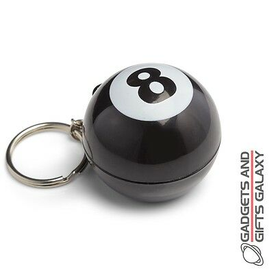 MAGIC 8 BALL KEYCHAIN FORTUNE TELLER POCKET SIZE toy gift novelty childs adults